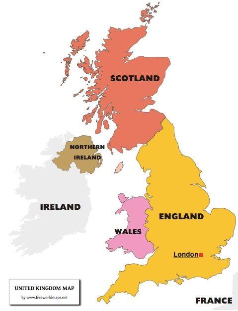 イギリスの4つの地域