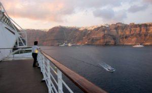 クルーズ船のデッキからの眺め