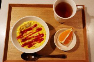 オムライス風オートミールの朝食セット