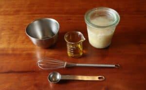 塩麹とオリーブオイルのドレッシング